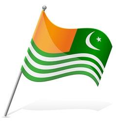 Flag of azad kashmir vector