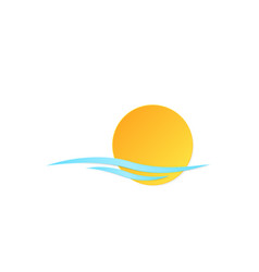 icon sun wave vector image vector image