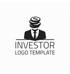 Investor logo template vector image