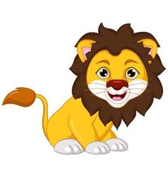 lion cartoon posing vector image vector image