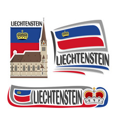 logo for liechtenstein vector image vector image