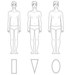 Male figure vector