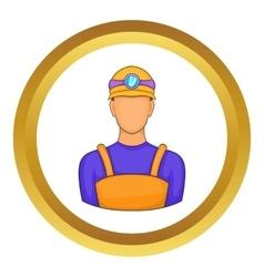 Male miner icon vector