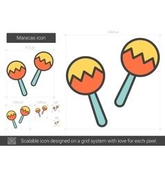 Maracas line icon vector