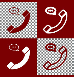 phone with speech bubble sign bordo and vector image vector image