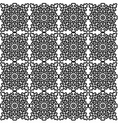 Seamless pattern with national russian lace vector