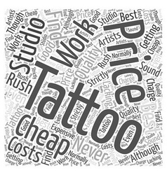 The costs of tattoos word cloud concept vector