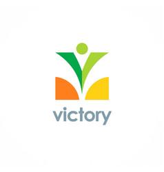 Victory swoosh logo vector