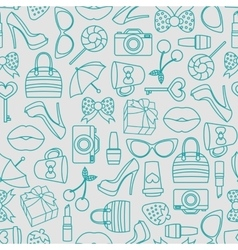 pattern of glamor stickers and labeles vector image