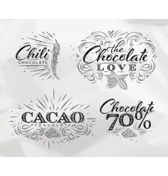 Chocolate labels collection vector image