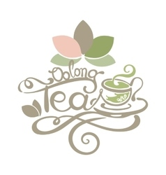 Lettering - oolong tea vector