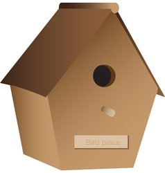 Wooden nest box vector