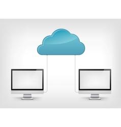 Cloud Service vector image