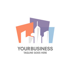 Fresh new real estate building logo vector