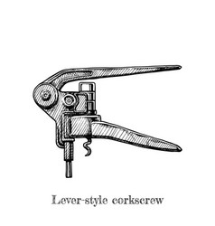 Lever-style corkscrew vector