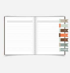 Notebook with reminder note eps10 vector