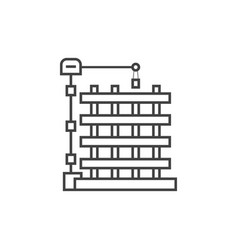 Outline new building icon vector