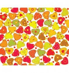 texture heart vector image