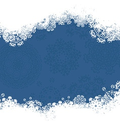 Snowflake christmas card vector