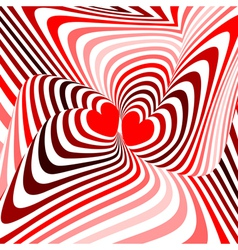Design hearts twisting movement background vector