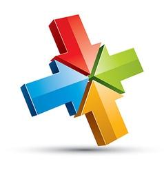 3d arrows icon vector