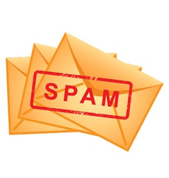 Nvelopes inscription spam vector vector