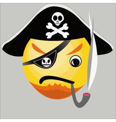Pirate icon vector