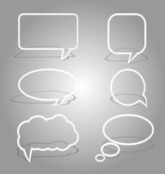 White dialog bubbles set vector
