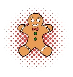 Cookie man comics icon vector