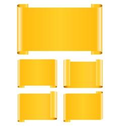 orange paper banners vector image