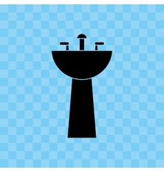 Bathroom sinks design vector