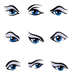 Human eyes set vector image