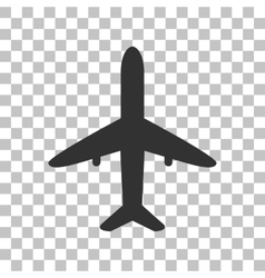 Airplane sign  dark gray icon on vector