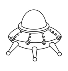 Ufo kid toy icon vector