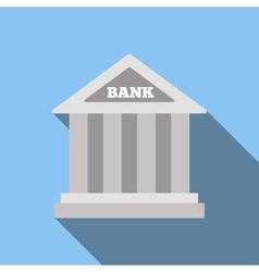 Bank flat icon vector image vector image
