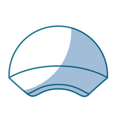 Blue silhouette shading of sport cap headwear vector