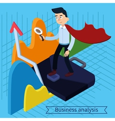 Business analysis isometric concept vector