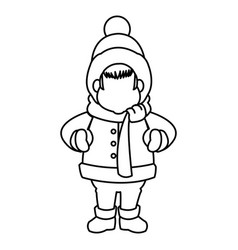 character man carols singer at a winter clothes vector image