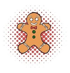 Cookie man comics icon vector