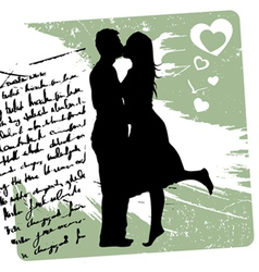couple kissing vector image