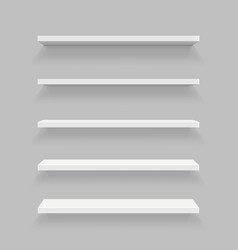 creative of empty shelves set vector image