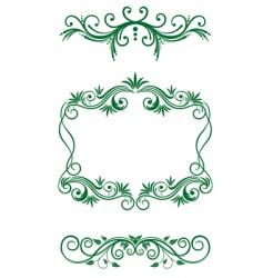 floral vintage decorations vector image vector image