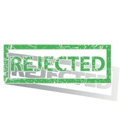 Green outlined rejected stamp vector