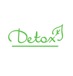 Hand drawn lettering word detox vector