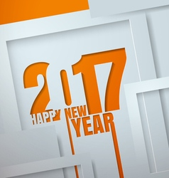 Happy New Year 2017 Cut from Paper Design vector image