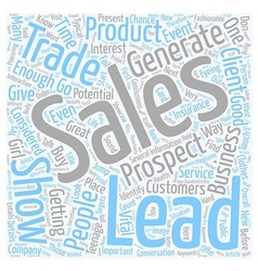 How To Get Sales Leads At Trade Shows text vector image