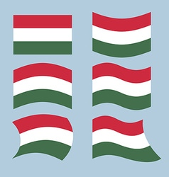 Hungary flag set of flags of hungarian republic in vector