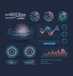 infographic in futuristic design science theme vector image vector image