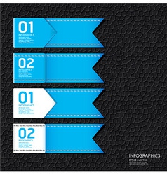 Leather blue color Design template vector image