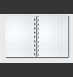 Open notebook copy vector